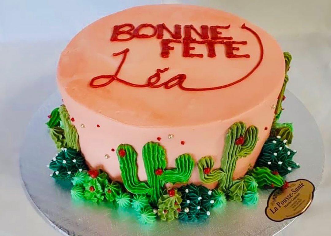 Gâteau cactus