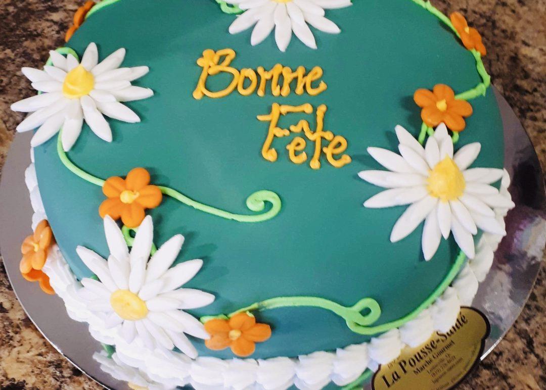 Gâteau fleurs