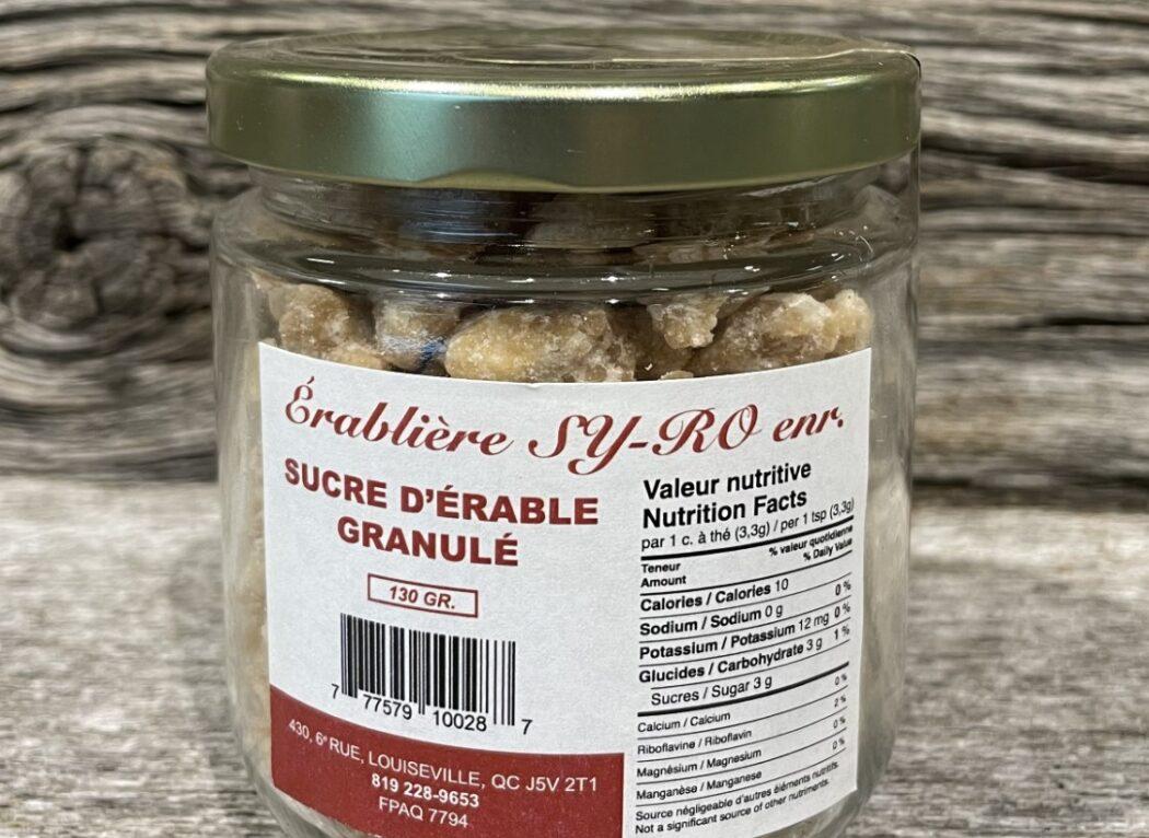 Sucre d'érable granulé de l'érablière Sy-ro enr.