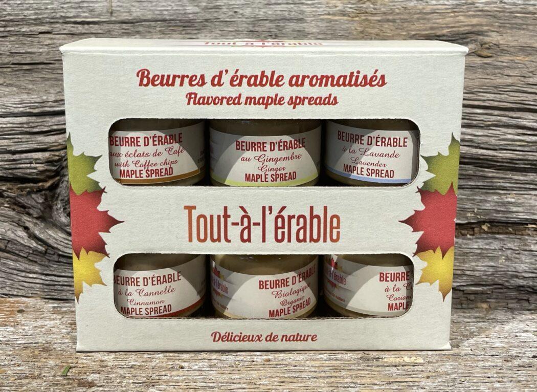 Beurre d'érable aromatisés, Tout à l'érable