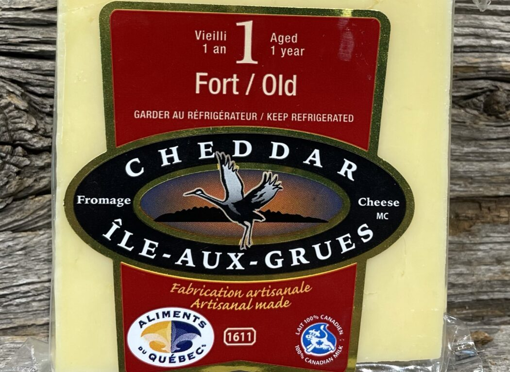 Cheddar fort vieilli 1 an, Fromage Île-aux-grues