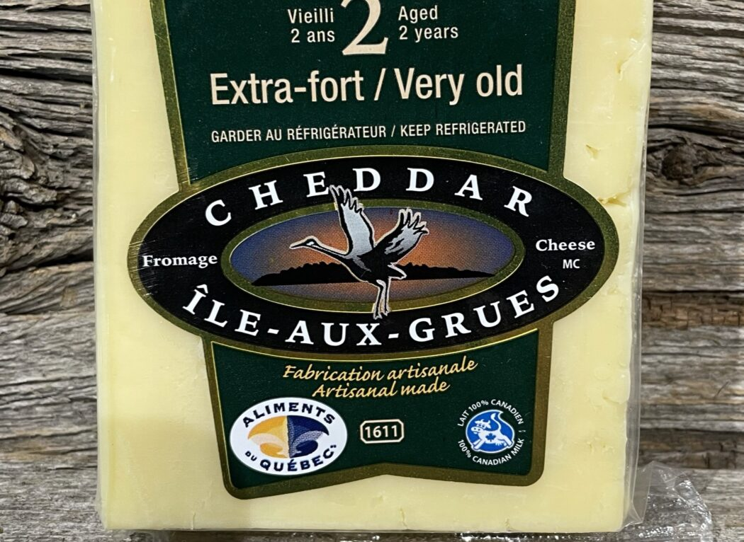 Fromage cheddar extra-fort vieilli 2 ans
